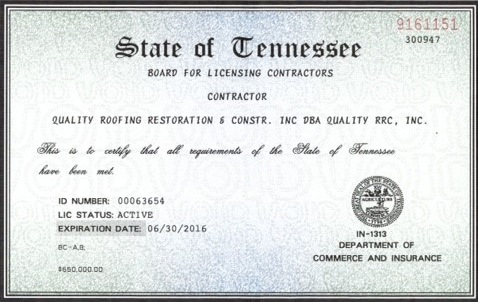Credentials Quality Roofing Co